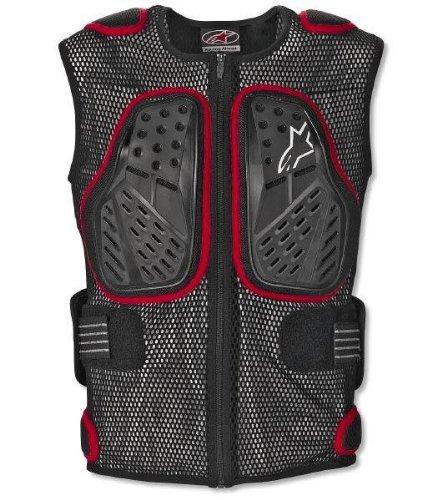 Alpinestars Bionic Sp Vest Adult Protector Street Bike Motorcycle Body Armor - Black/red / X-large
