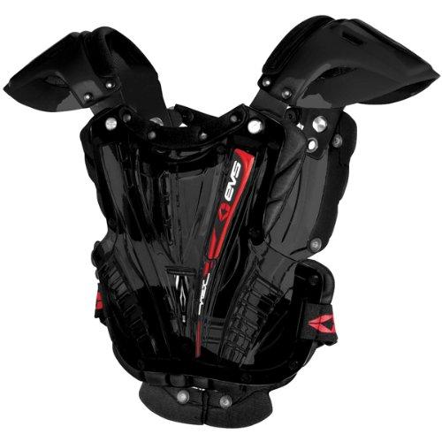 Evs Vex Adult Chest Protector Motocross/off-road/dirt Bike Motorcycle Body Armor - Black/black / Medium