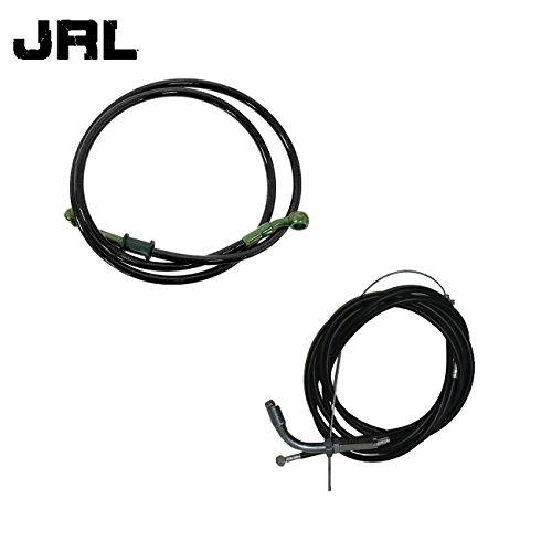 JRL 120cm Black Fuel Line&Motorized Bicycle Bike Throttle Cable&Clutch Cable 49cc 60cc 66cc