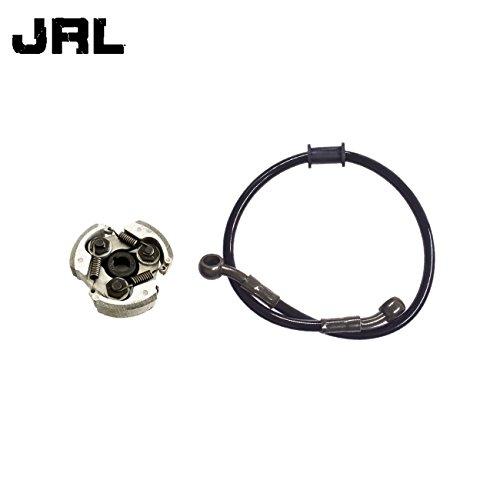JRL 50cm Black Fuel Line And Cluch For 2 Stroke 43 47 49cc Pocket Dirt Bike