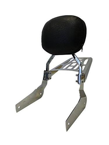 Round - Sissy Bar Backrest Luggage Rack for 04 Honda Shadow Aero VT750