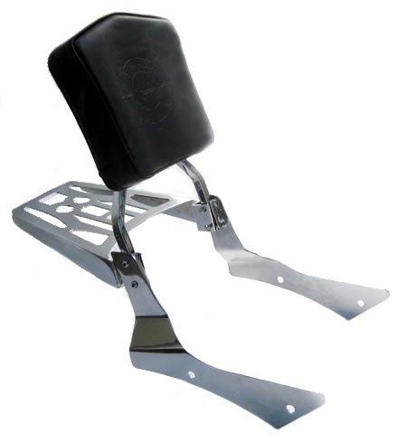 Sissy Bar Backrest Luggage Rack for 00-06 Honda Shadow Spirit VT750DC Chain Drive