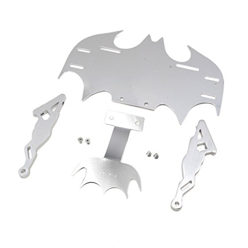 uxcell Silver Tone Bat Shape Adjustable Tail License Plate Frame Bracket for Motorcycle