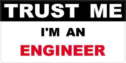 3 - Engineer Trust Me Tool Box Hard Hat Helmet Sticker H434