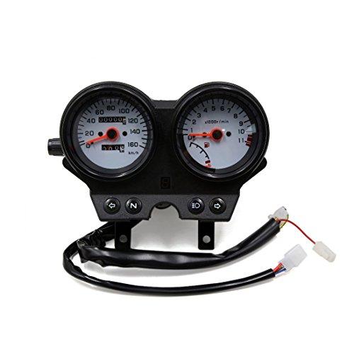 uxcell Dual Digital Motorcycle Odometer Tachometer Speedometer Oil Meter Gauge for Suzuki EN125