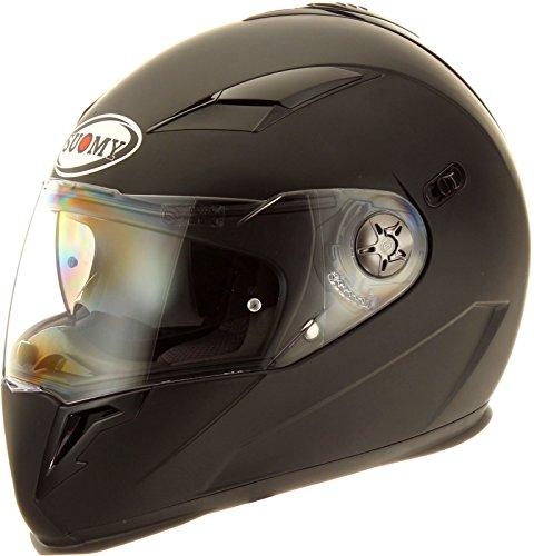Suomy Halo Streetbike Racing Motorcycle Helmet Matte Black Large