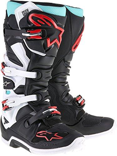 Alpinestars Tech 7 Boots-CyanBlackRed-10