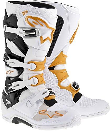 Alpinestars Tech 7 Boots-WhiteOrange-9