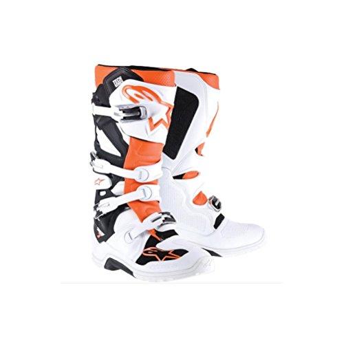 Alpinestars Tech 7 Enduro Boots Primary Color White Size 14 Distinct Name WhiteOrange Gender MensUnisex 2012114-24-14
