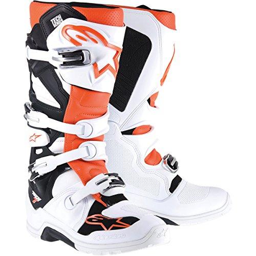 Alpinestars Tech 7 Enduro Mens Off-Road Motorcycle Boots - WhiteOrange  10