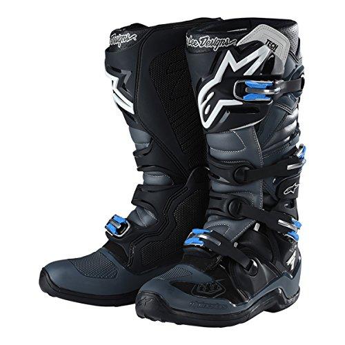 Troy Lee Designs Alpinestars Tech 7 Mens MX Offroad Boots BlackGray 10 USA