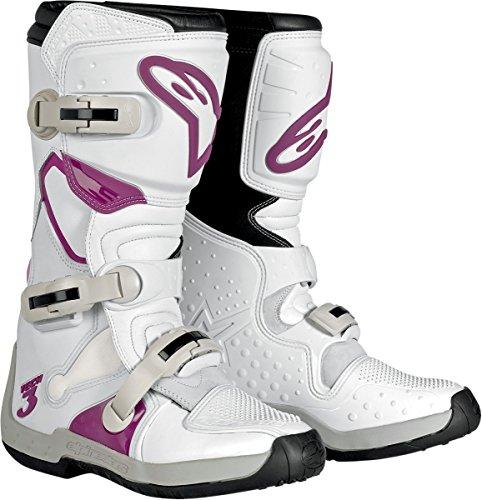 Alpinestars Stella Tech 3 Womens MotoX Motorcycle Boots - WhiteViolet  Size 8
