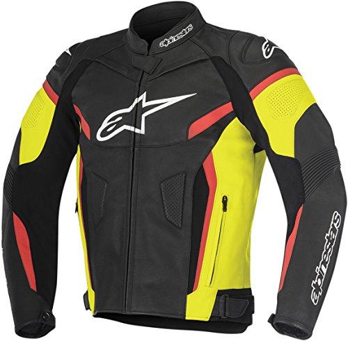 Alpinestars GP Plus R V2 Leather Jacket BlackYellowRed Mens Size 58