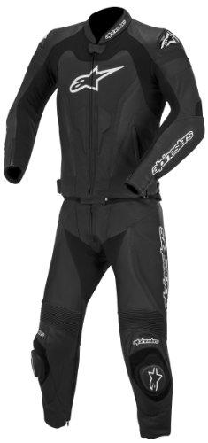 Alpinestars GP Pro Two-Piece Leather Suit Gender MensUnisex Primary Color Black Size 48 Apparel Material Leather Distinct Name Black 3165014-10-48