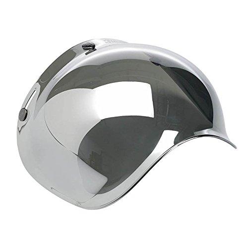 Autvivid Motorcycle Bubble Helmet Shield Smoke Tint Bubble Shield Motor 3-Snap Flip Up Face Wind Shield Lens Smoke One Size Sliver