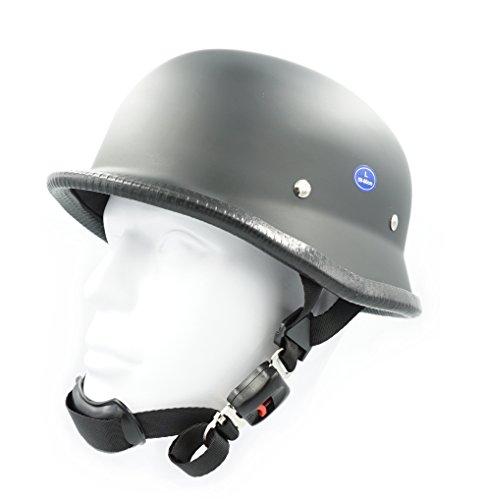 Hot Rides Classic Chopper Biker Motorcycle Helmet Novelty German Flat Black Medium