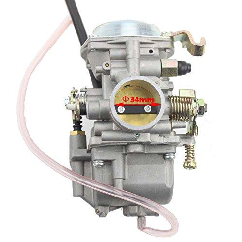 GOOFIT 34mm Carburetor for Roketa ATV-11 JIANSHE JS400 Mountain Lion 400cc ATV YAMABUGGY GO KART KF