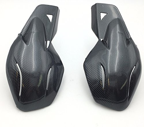 HK MOTO- Motorcycle Carbon Fiber Hard Plastic Reinforced Hand Guards 78 22mm For Snowmobile Polaris RMK Ski-Doo Sno Pro Vector Phaser Indy Honda Yamaha Suzuki KTM ATV