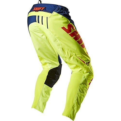 Shift Racing Assault Race Youth Boys Motox Motorcycle Pants - Navy/yellow / Size 26
