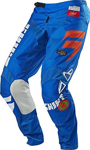 Shift Racing Strike Men's Off-road Motorcycle Pants - Blue/green / Size 40