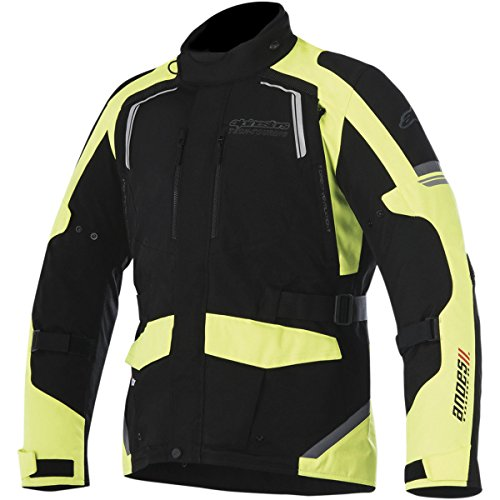 Alpinestars Andes V2 Drystar Mens Street Motorcycle Jackets - BlackFluorescent Yellow  Large