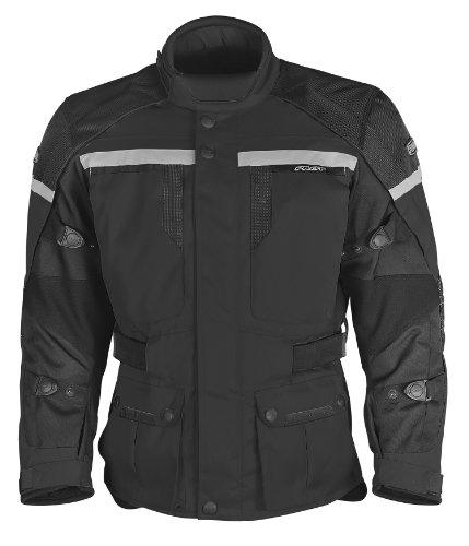 Pilot Men's Trans.urban Motorcycle Touring Jacket (black, Large)