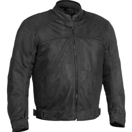 River Road Sedona Mesh Men's Textile Harley Touring Motorcycle Jacket - Black / Medium