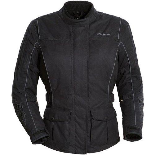 Tour Master Motive Women's Textile Touring Motorcycle Jacket - Black/black / Large