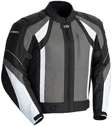 Cortech Vrx Men's Textile Armored Motorcycle Jacket (gun/black/white, Xx-large)