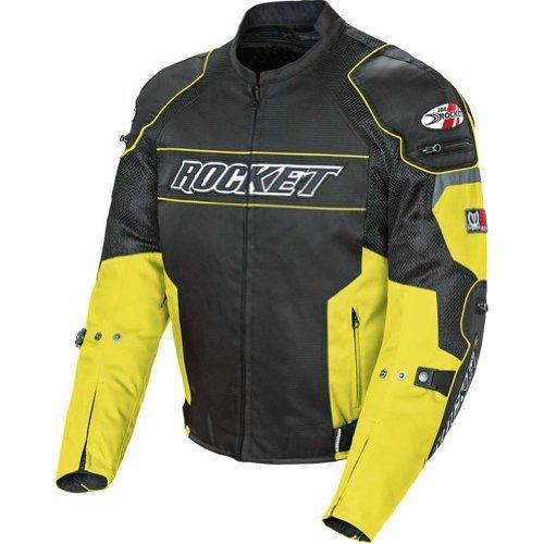 Joe Rocket Resistor Men's Mesh Sports Bike Racing Motorcycle Jacket - Yellow/black / Large