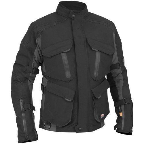 Juicy Trendz Motorcycle Motorbike Biker Cordura Waterproof Textile Jacket Gray Medium