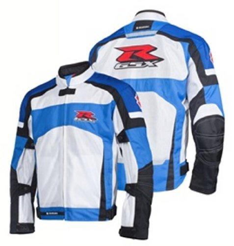 Suzuki Gsx-r Gsxr Mesh Riding Jacket White Blue Medium Med