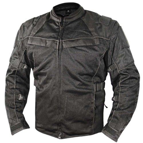 Xelement Xs-8160 All Season Mens Black Tri-tex And Mesh Jacket - Large