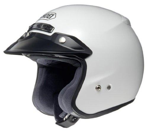 SHOEI RJ PLATINUM-R WHITE MOTORCYCLE OPEN FACE HELMET new XL
