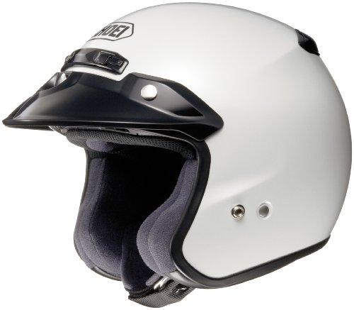 Shoei RJ Platinum R Open-Face Helmet - MediumCrystal White