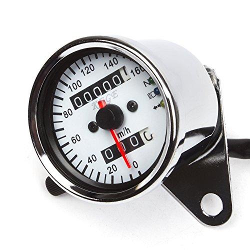 Universal Dual Odometer Speedometer Gauge Meter Double Mileage Meter Night Light For Motorcycles Atv Scooter Easy