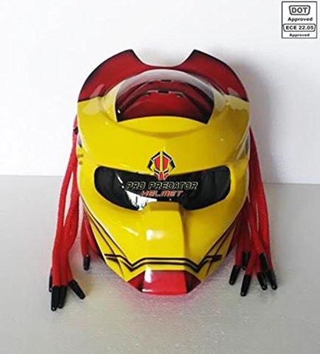 Pro Predator Motorcycle Helmet Dot Approved SY31 Iron Man Helmet style S