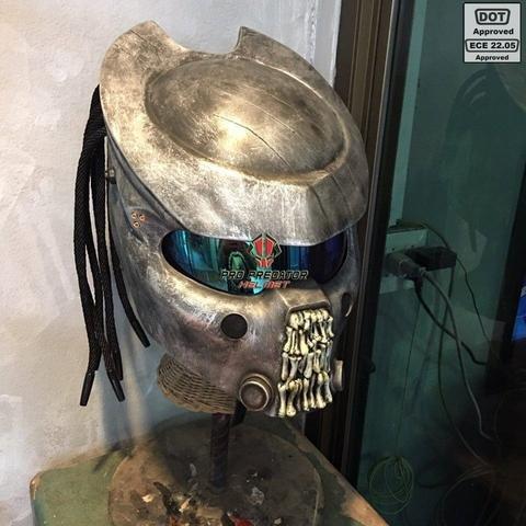 Pro Predator Motorcycle Helmet bone grill predator SY65 L