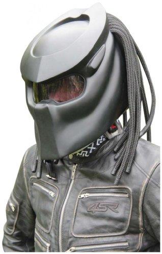 X-FF Fiber Factory - Predator Motorcycle Helmet - X1 Black Base Matt S