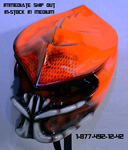 predator motorcycle helmet neon dreadless