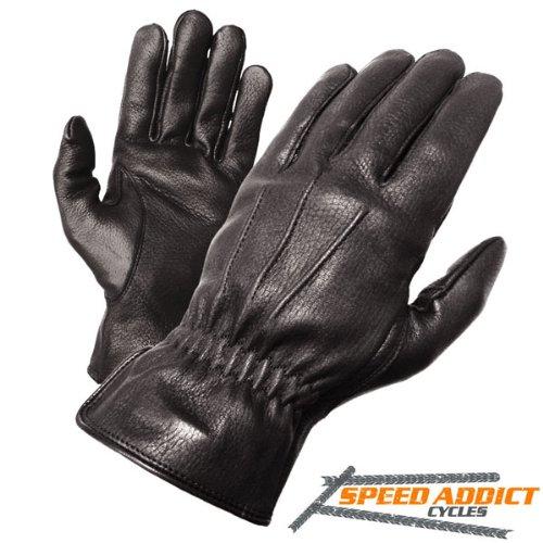 Olympia 140 Deerskin I Classic Motorcycle Gloves (black, Large)