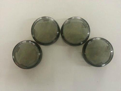 Harley Davidson Smoked Turn Signal Lens Covers Lenses 2 38&quot Repl Oem 68973-00