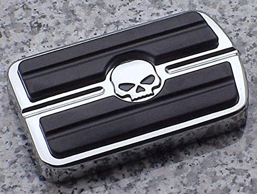 I5&reg Chrome Skull Rear Brake Pedal Cover For Harley Davidson