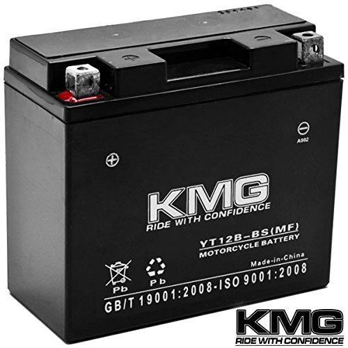 Kmg® Yamaha 650 Xvs650 V-star All 1998-2011 Yt12b-bs Sealed Maintenace Free Battery High Performance 12v Smf Oem