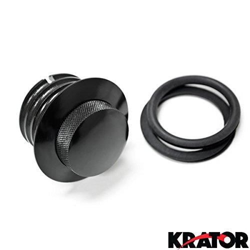 Krator® Flush Black Pop Up Gas Cap Vented Fuel Tank Gas For Screamin Eagle Dyna Fat Bob Fxdfse 2009