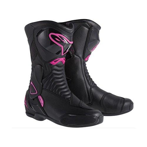 Alpinestars Stella Smx-6 Womens Boots, Primary Color: Black, Size: 7, Distinct Name: Black/pink, Gender: Womens