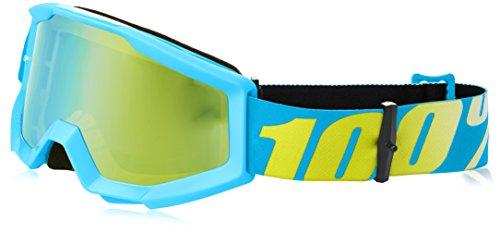 100 Unisex-Adult Strata Junior MX Motocross Goggles Mirror BlueBlueOne Size Fits Most