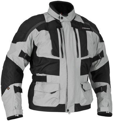 Firstgear Men's Kathmandu Motorcycle Jacket (grey/black, Large)