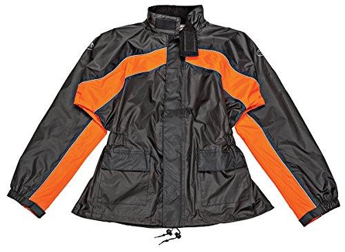 Joe Rocket Rs-2 Men's Motorcycle Rain Suit (black/orange, Medium)