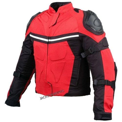 New Pro Mesh Motorcycle Jacket Rain Waterproof Red L